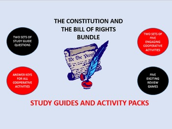 The Constitution and the Bill of Rights Bundle: Study Guide/Activity Packs