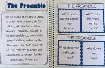The Constitution {Interactive Notebook Activities}