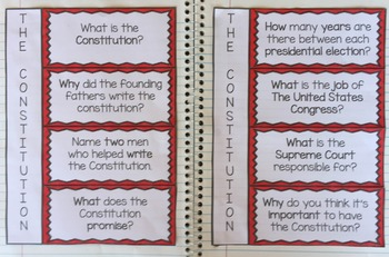 The Constitution Interactive Notebook Activities