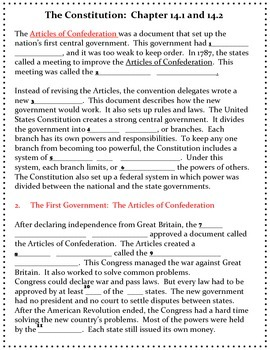 The Constitution Chapter 14- History Alive