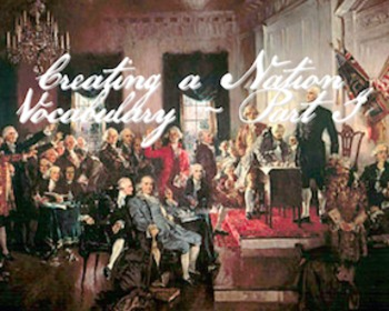 The Constitution - Creating a Nation Vocabulary Part I