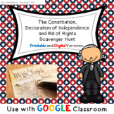 The Constitution, Declaration of Independence and Bill of