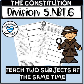 US Constitution Division 5.NBT.6 Practice