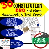 The Constitution DBQ, Document Based Questions Bellringers Ticket Out Google