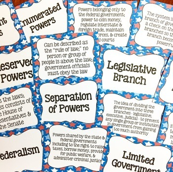 Constitution Flash Cards