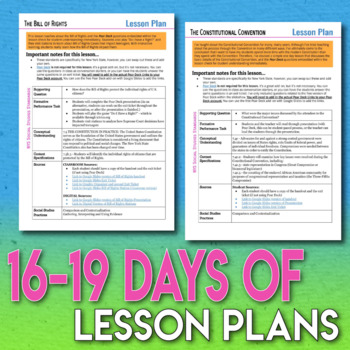 The Constitution Full Unit Bundle Engaging Student Centered Activities