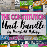 The US Constitution Full Unit Bundle Engaging Student Centered Activities