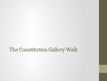 The Constitution Gallery Walk