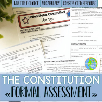 Constitution Test Worksheets Teaching Resources TpT