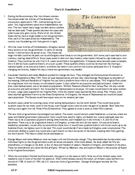 The Constitution - Grade 7