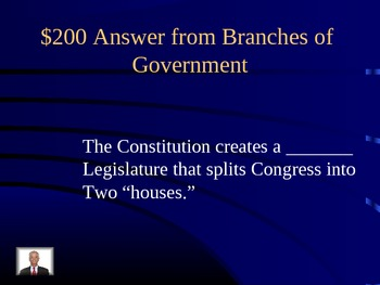 The Constitution Jeopardy Review Game