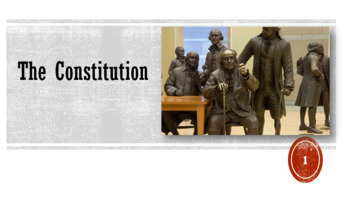 The Constitution Lesson PowerPoint and Worksheet