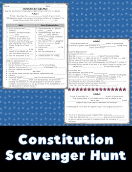The Constitution Matching Game