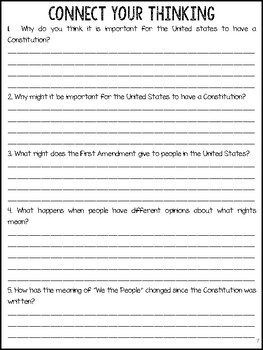 The Constitution Of the United States/Bill of Rights Paired Text Articles