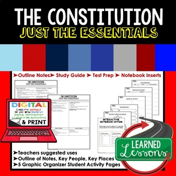 The Constitution Outline Notes JUST THE ESSENTIALS