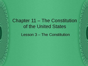 Constitution of the United States - The Constitution PowerPoint