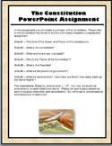 Constitution Day - PowerPoint Assignment and Worksheet