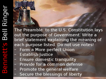 The Constitution: Principles of the Constitution
