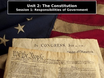 The Constitution Session 1: Preamble: The Responsibilities of Government