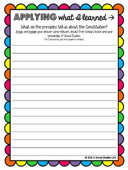 Constitution - Six Principles of the Constitution