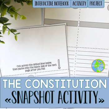 The Constitution Snapshot Foldable