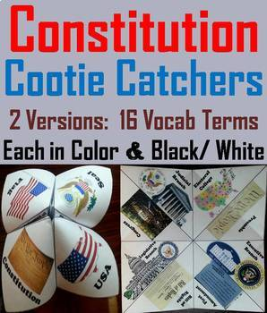 The Constitution Task Cards and Activities Bundle (American Government Unit)