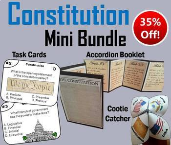 The Constitution Task Cards and Activities Bundle (America