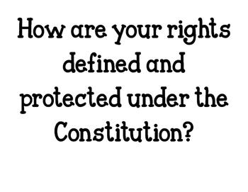 The Constitution - UEQ & LEQs
