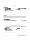The Constitution (Unit 2) Guided Notes