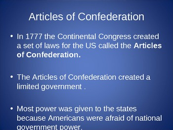 The Constitution (Unit 2) PowerPoint