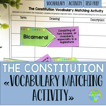 Constitution Vocabulary Matching Activity