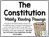 The Constitution - Weekly Reading Passage and Questions