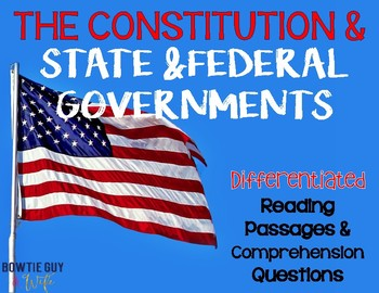 The Constitution and State & Federal Government Differentiated Leveled Texts
