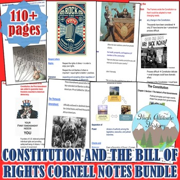 Constitution and the Bill of Rights Cornell Notes *Bundle* (Government)