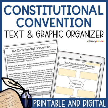 The Constitutional Convention- Federalists vs. Antifederalists (Worksheet & Key)