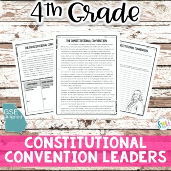 The Constitutional Convention Reading and Writing Activity (SS4H2)