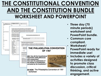 The Constitutional Convention and the Constitution Bundle - US History