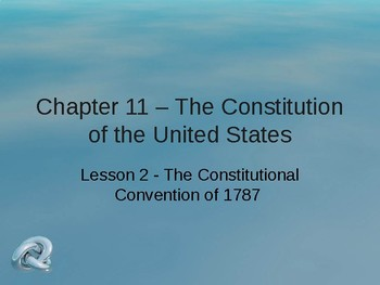 Constitution of the United States - The Constitutional Convention of 1787