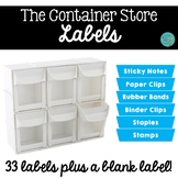 The Container Store Labels
