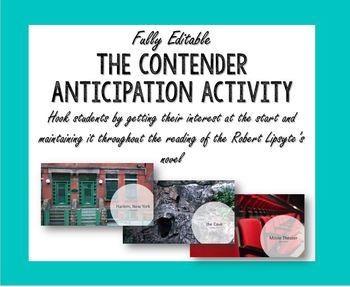 The Contender Introduction Activity Anticipation Box