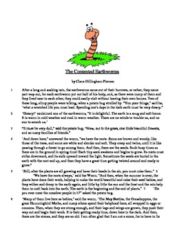 The Contented Earthworms - Literary Text Test Prep