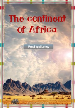 The Continent of Africa mini-lesson