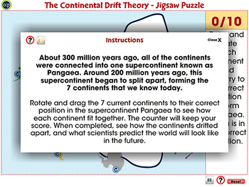 The Continental Drift Theory - Jigsaw Puzzle - Activity - PC Gr. 6-8