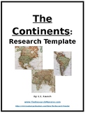 The Continents Research Template EDITABLE