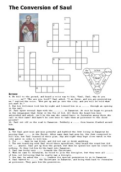 The Conversion of Saul Crossword