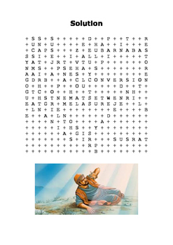 The Conversion of Saul Word Search