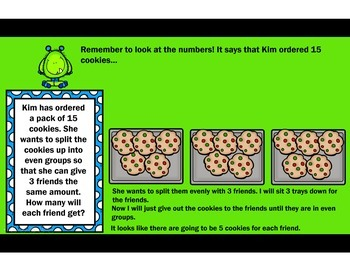 The Cookie Factory - Word Problems & Equations with Missing Variables