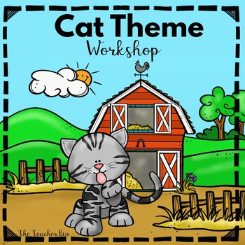 Kindergarten- 1st - 2nd Grade - Cat Theme Science, Math, & Literacy