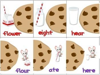 Homophones Game: Cookies and Milk
