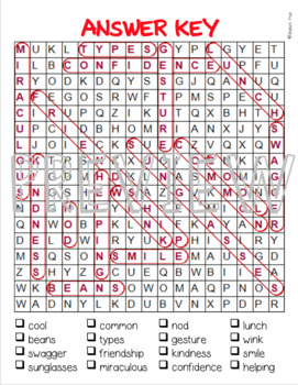 The Cool Bean Word Search